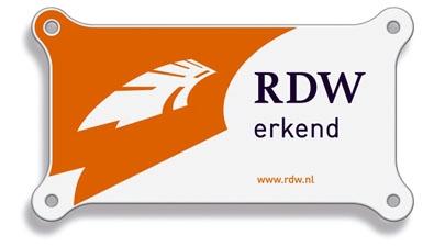 Schild RDW-erkend bedrijf